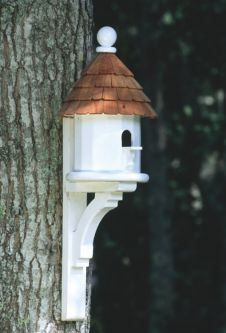 Post Mounted Bird Houses Bird Feeder Post Larson Shutter